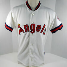 Vintage Los Angeles Angels Replica White Jersey 46 Rawlings