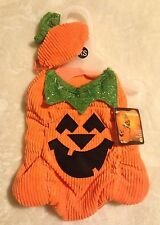 Pumpkin Dog Costume w/ Stem Hat - XS or S - Adjustable - Halloween - NWT