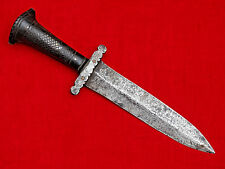 ANTIQUE RUSSIAN HUNTING DAGGER HORN GRIP knife sword blade