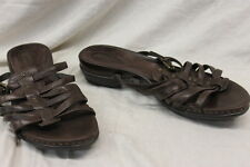 Clarks Artisan Womens Sandals Slip On Leather Brown Size 8.5 Excellent Used 1121