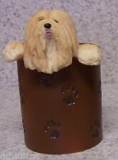Pen Pencil Utility Holder Dog Lhasa Apso Desk Top NEW