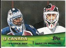 Patrick Roy / Martin Brodeur  00/01 Topps  #TC8   O'Canada Combos