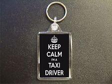 KEEP CALM I'M A TAXI DRIVER KEYRING GIFT BAG TAG BIRTHDAY GIFT