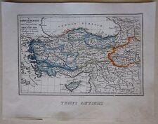 1845 IMPERO SELEUCIDE acquaforte Marmocchi map Turchia Turkey Türkiye Anatolia