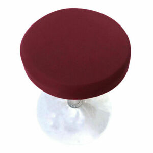 Round Bar Stool Cover Home Kitchen Stool Slipcovers Seat Cushion Protector Decor