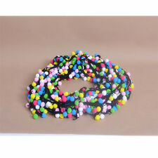 Ball Rainbow Pom Pom Bobble Trim Braid Fringe Ribbon Craft Decor B072