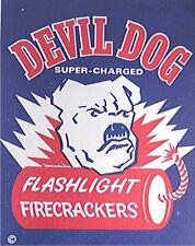 Vintage Devil Dog Firecracker Label -- Fire Works Advertising Label - Bull Dog