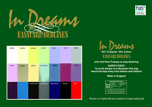 """Made to measure 68 pick polycotton fitted sheets 2'9"""" wide upto 6'6"""""""" length"""
