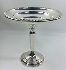 Antique Sterling Silver Compote Embossed Rim - Weighted Base - Card Tray