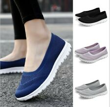 Women's Breathable Sneakers Leisure Sport Elastic Mesh Pumps Slip On Shoes 35-42