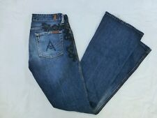 WOMENS 7 FOR ALL MANKIND FLARE JEANS-GREAT CHINA WALL SIZE 29x33 1/4 #W239