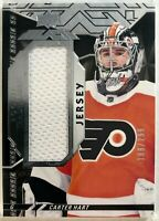 2018-19 SPx Carter Hart UD Black Rookie Trademarks Relics #RT-CH #/299 Flyers