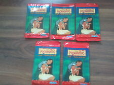 Disney's Pocahontas Trading Card Packs x 5 ,  New & Sealed. 8+1 in a pack