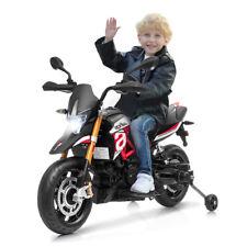 COSTWAY Moto Electrique 12V pour Enfants 3 à 8 Ans avec Lumières LED
