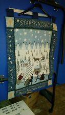 Christmas Holiday Wall Banner calendar star light star bright Carol Endres 28x36