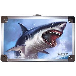 "Vaultz Locking Supplies & Pencil Box No Key Great White Shark 5""x 2.5""x 8 New"