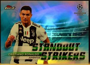 2010 Topps Finest UEFA Champions CRISTIANO RONALDO Standout Strikers REFRACTOR