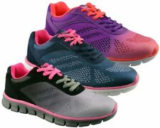 Memory Foam Lace Up Textile Trainers for Women