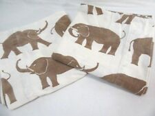 The Company Store Elephant Brown Cotton Flannel 2-PC King Pillowcase Pair