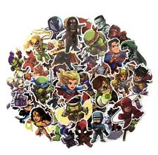 Superheroes In Action Vinyl Decal Stickers Assorted Lot of 50 Pieces New Style