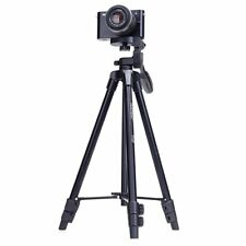 YUNTENG Collapsible Tripod Camera Stand with 3-Way Head for Canon Nikon VCT-520