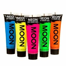 Moon Glow Neon UV Hair Gel - 20ml Set of 5 tubes  Temporary wash out hair colou