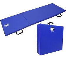 REBOXED Folding Exercise Gym Mat Yoga Pilates Gymnastics Workout Fitness Blue