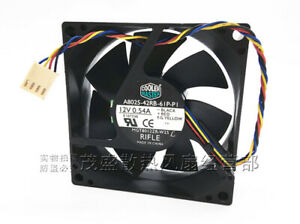 1PC Cooler Master A8025-42RB-61P-P1 12V 0.54A 4-wire PWM temperature control fan