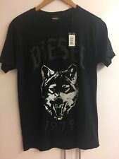 Original Schwarzes Diesel Shirt Größe S Wolf Motiv