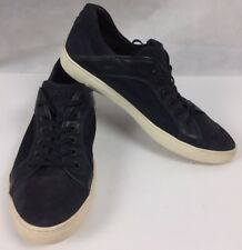 TOD'S MEN'S BLUE SUEDE LEATHER LACE UP TRAINERS SNEAKERS Sz 10