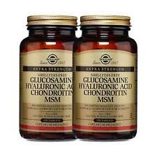 2x Solgar Glucosamine Acide Hyaluronique Chondroïtine Msm 120 Fabriqué En USA