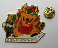 Nintendo Super Mario BOWSER KING KOOPA Rare Vintage Big METAL PIN BADGE Pins RED