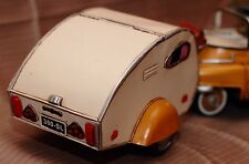 TRAILER CAMP tin toy tinplate car blechmodell auto voiture tole handmade metal