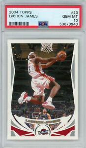 LeBron James 2004 Topps #23 Base Set PSA 10 Gem Mint Cavaliers 2nd Year Lakers