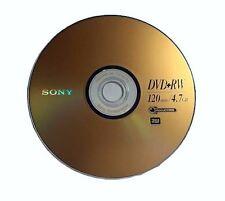 10 pcs SONY Blank DVD+RW 4x Branded 4.7GB Rewritable DVD Disc in paper sleeves
