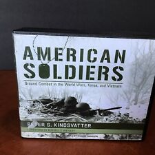 American Soldiers Audio Book CD Set Peter S Kindsvatter Ground Combat Military