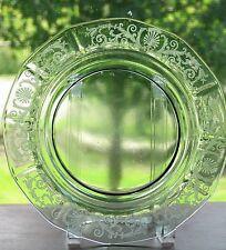 Fostoria Glass VERSAILLES Etch 8 3/4 Inch Green Luncheon Plate (s)
