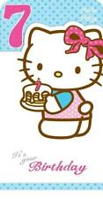 HELLO KITTY 7TH IT'S YOUR BIRTHDAY CARD NEW GIFT