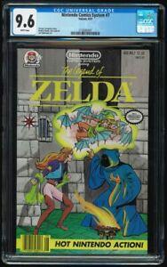 Nintendo Comics System #7 CGC 9.6 W Legend of Zelda Valiant Last Issue Low Print