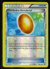 Pokemon OLD AMBER AERODACTYL 106/124 - XY Fates Collide - Rev Holo - MINT