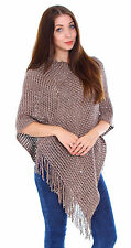 Women Daily Pullover Batwing Cape Poncho Knit Top Cardigan Sweater Outwear