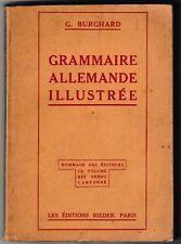 Grammaire allemande illustrée G. Burghard 1928