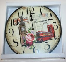 Wall Clock - LONDON Images Big Ben Design (34cm)