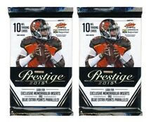 2015 PRESTIGE Football Cards Unopened Sealed Pack-2 PACKS PER LOT