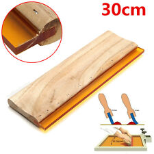 300mm 12'' 75 Durometer Silk Screen Printing Squeegee Wooden Handle Rubber Blade
