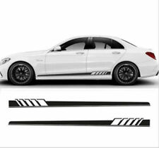 2x Car Body Graphics Vinyl Decal Sticker Sports Racing Long Stripe Decals Black