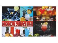 Wandsticker Aufkleber Wandspruch für Küche Schriftzug Cocktails Getränke Drinks