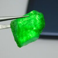 20.00cts. loose beautiful rich green natural Colombian emerald rough gemstone