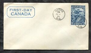 p978 - Canada FDC Cover 1934 Jacques Cartier
