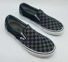 VANS Slip-On Checkerboard Canvas Skate Shoes Gray/Black Women's Size 8 Men's 6.5